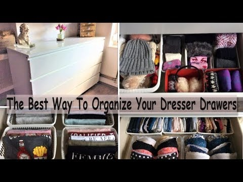 The best way to organize your dresser drawers dresser - Best way to organize bedroom furniture ...