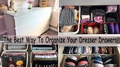 The Best Way To Organize Your Dresser Drawers (Dresser Drawer Organization) How To Organize Drawers