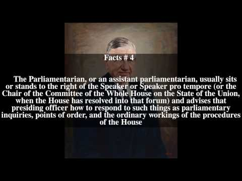 Parliamentarian of the United States House of Representatives Top # 9 Facts