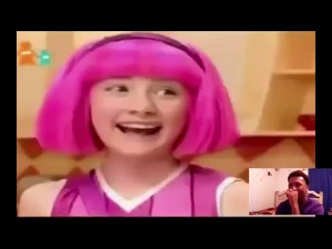Lazy Town Lil john mash-up reaction