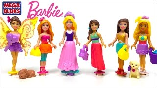 UNBOXING MEGA BLOKS - BARBIE BEACH VACATION BARBIE PRINCESS BALL MIX & MATCH ACCESSORIZE FAIRY WINGS