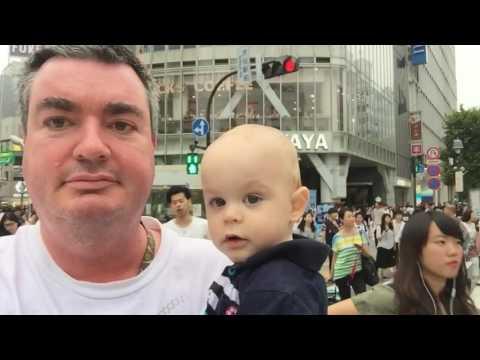 Kawaii baby Shibuya crossing Tokyo Japan