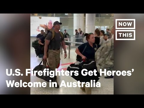 MORNING NEWS - American Firefighters Get a Heroes Welcome at Sydney Airport