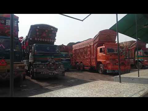 Beautiful Trucks Parking at Hotel