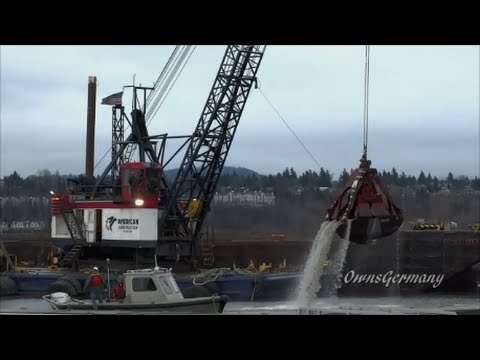 Dredge Barge Clamshell Digging Float Plane Docks