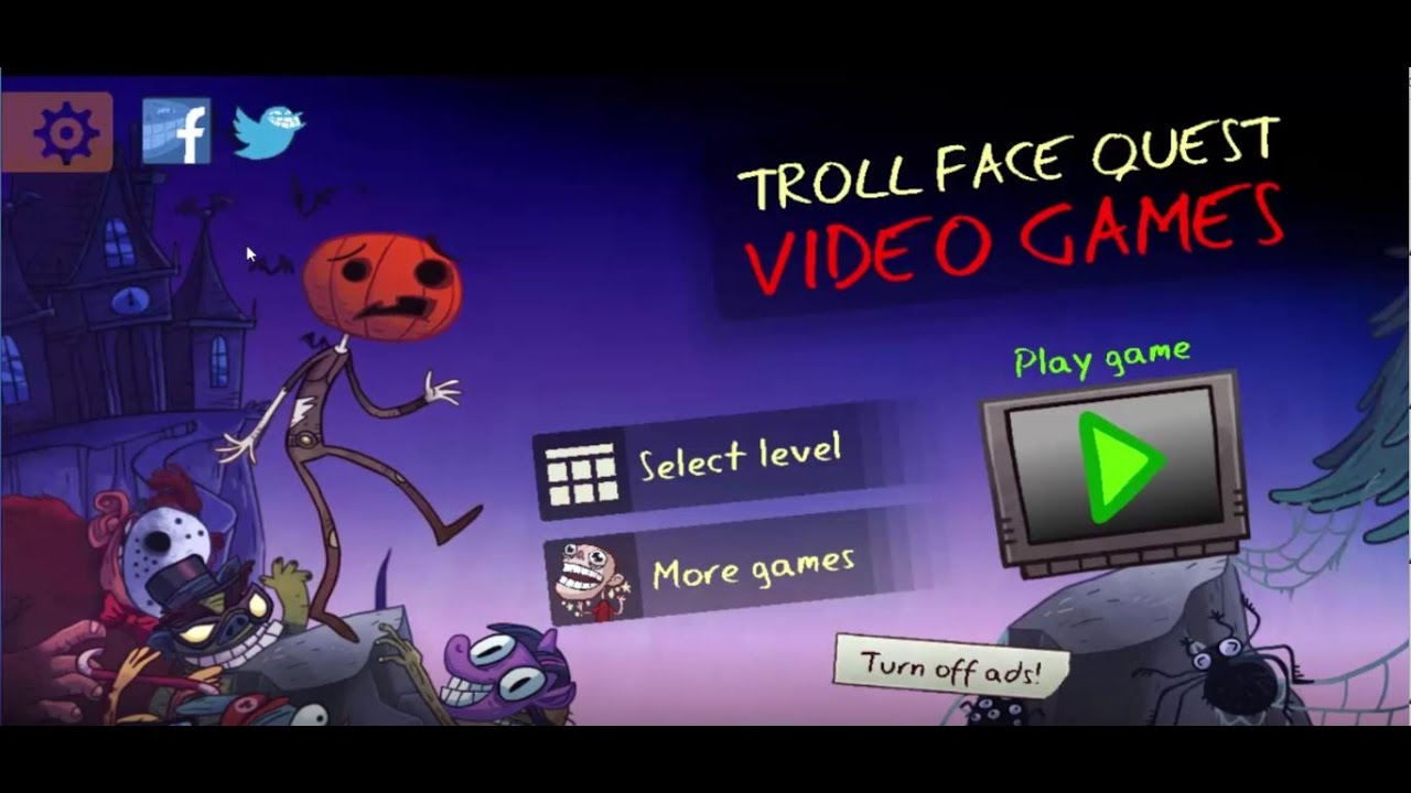 Troll Face Quest Video Games HALLOWEEN ALL LEVELS [1- 36]. - YouTube