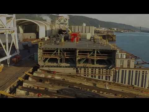 Gunderson Marine Barge Launch Project Highlights
