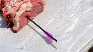 how many steaks does it take to stop an arrow ?