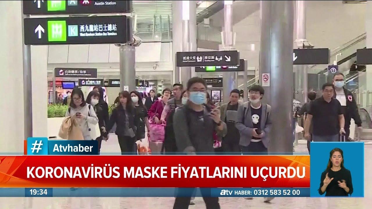 Corona virüsü maske fiyatlarını uçurdu - Atv Haber 3 Şubat 2020