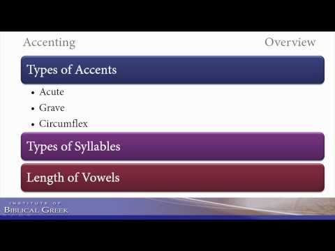 Accenting Biblical (Koine) and ancient Greek (Part 1 - General Principles)