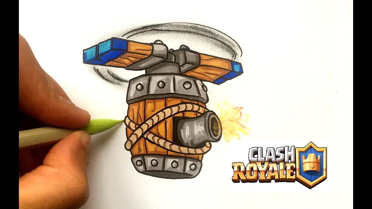 Como Dibujar La Maquina Voladora: DESSIN MACHINE VOLANTE !! CLASH ROYALE