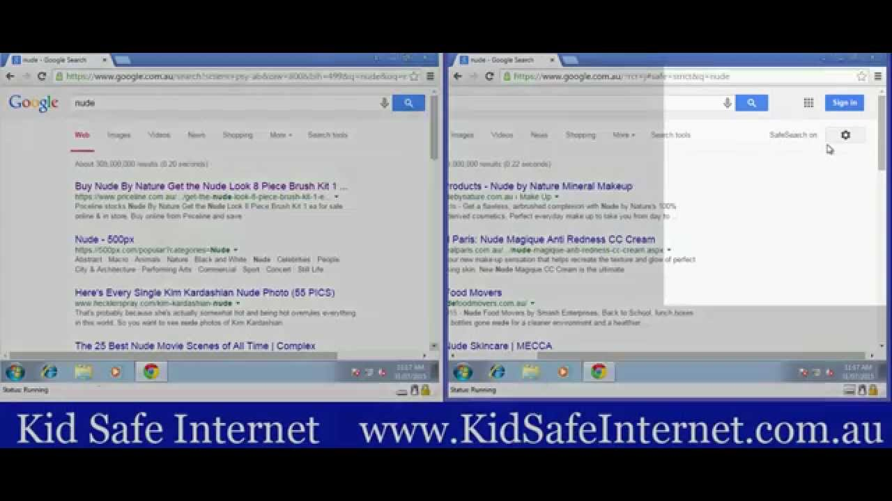 how to turn on youtube safe search