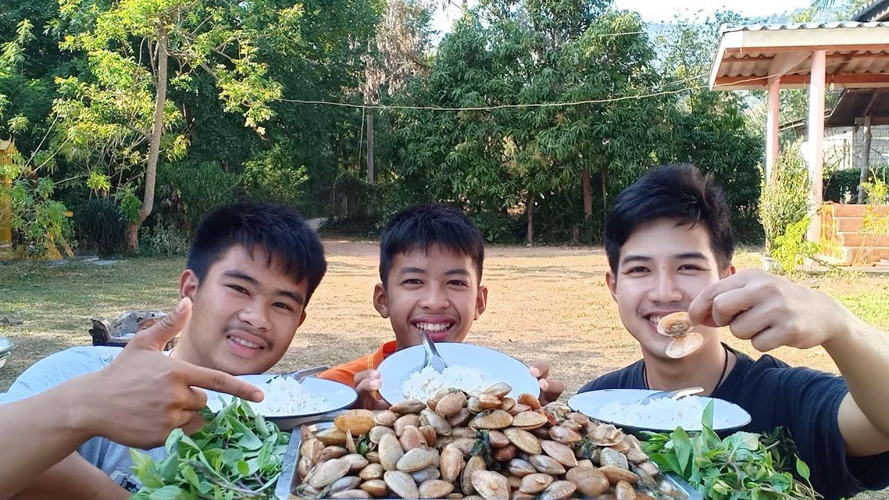 หอยลายผัดพริกเผา หอยหวานสดอร่อยตอนเที่ยงๆ