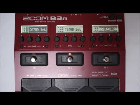 ZOOM B3N B3next Multi-Effects Processor for Bass PATCH 028-036