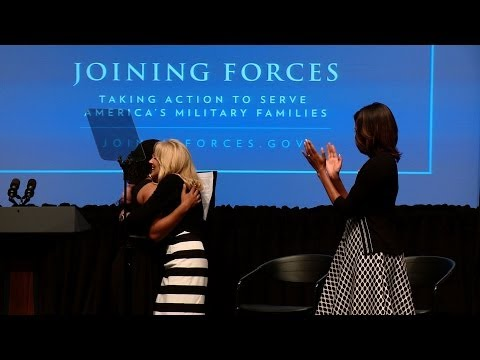 First Lady and Dr. Biden at launch of Philanthropy -- Joining Forces Impact Pledge