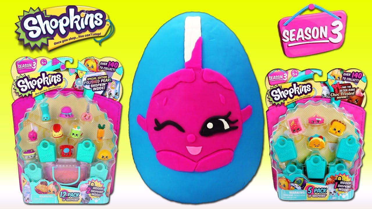 Shopkins Season 3 Giant Play Doh Surprise Egg Shopkins