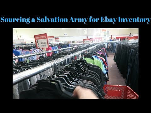 Sourcing an Entire Salvation Army thrift store for Ebay Inventory