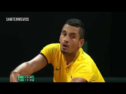 Nick Kyrgios AUS Vs Steve Darcis BEL   Davis Cup 2017 SF Highlights HD