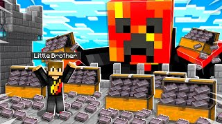 7 Ways to Steal My Little Brother's Netherite in Minecraft!