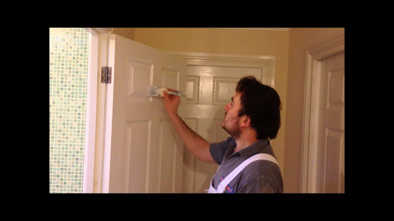 How to sand and paint an interior door youtube Best interior white paint