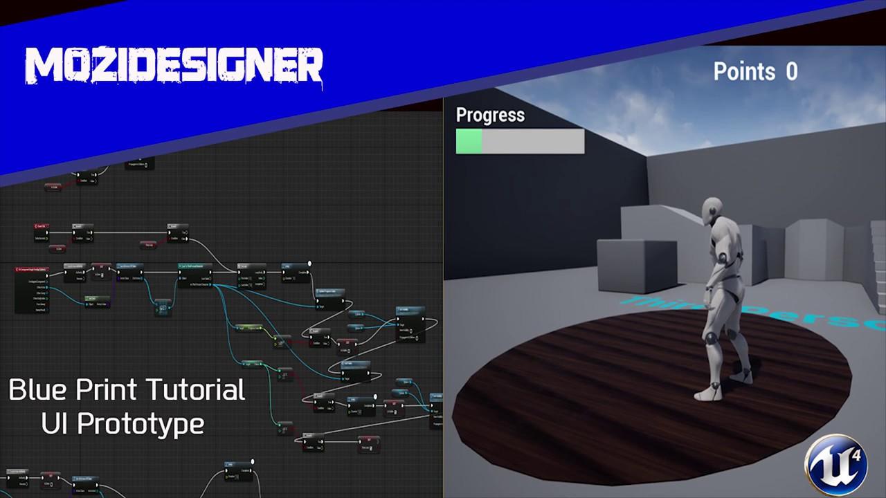UE4 Tutorial- Basic UI Part 1