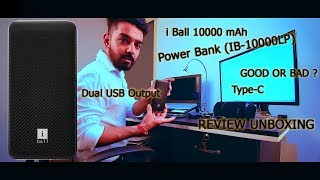 iBall 10000 mAh POWER BANK TEST REVIEW BREAKLESS UNBOXING