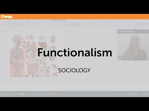 Functionalism | Sociology | Chegg Tutors