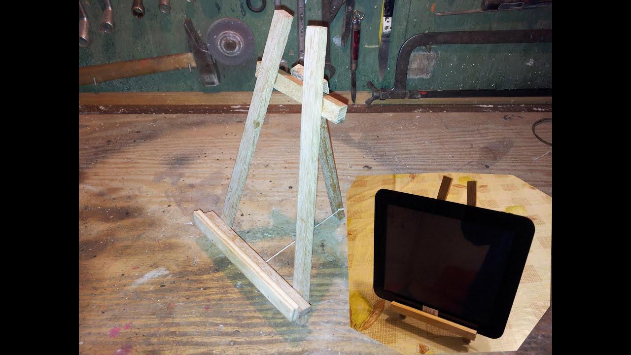 soporte tablet casero caballete de pintura - YouTube