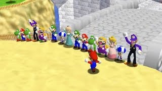 Super Mario 64 Online Mod: Play as Waluigi, Yoshi, and More