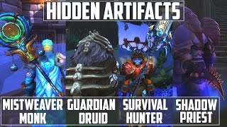 4️⃣ Hidden Artifacts | Survival Hunter + Guardian Druid + Mistweaver Monk + Shadow Priest