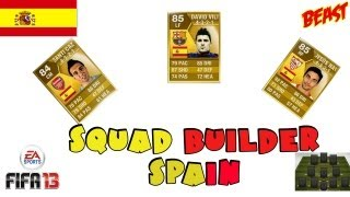 FIFA 13 Ultimate Team Squad Builder - Spain
