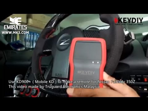 USE KD900+MOBILE KD TO MAKE REMOTE FOR NISSAN FAIRLADY 350Z THIS VIDEO MADE BY TRUGUARD ELECTRONICS