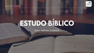Estudo Bíblico 27/01/2021