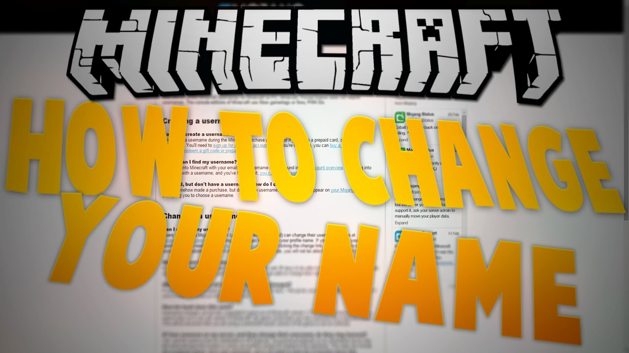How To Change Your Minecraft Name Migrate Minecraft Account To - Minecraft namen andern too many failed attempts