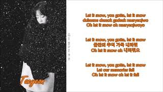 Taeyeon - Let It Snow (Rom-Han-Eng Lyrics)