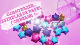 DIY: Como Fazer Estrelas de Papel (Origami) Para Decoração!
