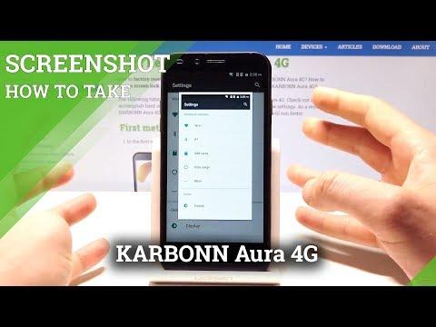 How to Take Screenshot on KARBONN Aura 4G - Capture Screen