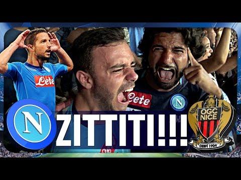 NAPOLI 2-0 NIZZA | ZITTITI! LIVE REACTION GOL CURVA B CHAMPIONS LEAGUE HD