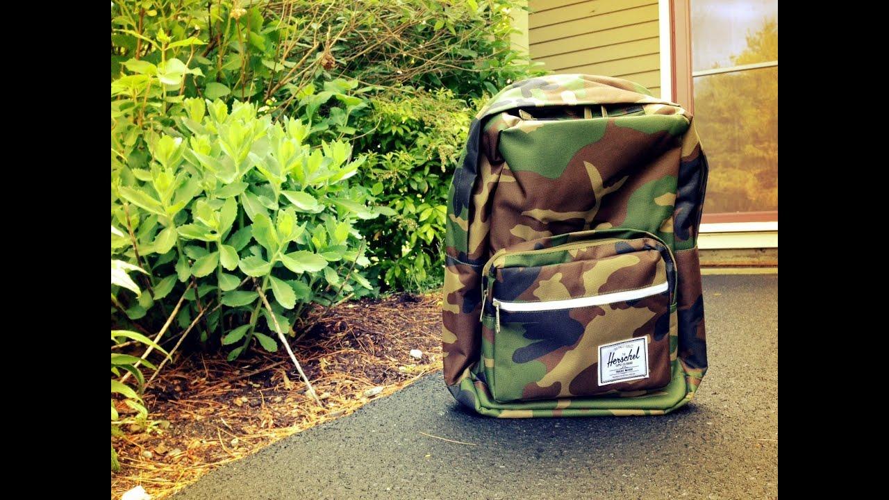 Herschel Supply Co. Camo Backpack Pop Quiz Review - YouTube