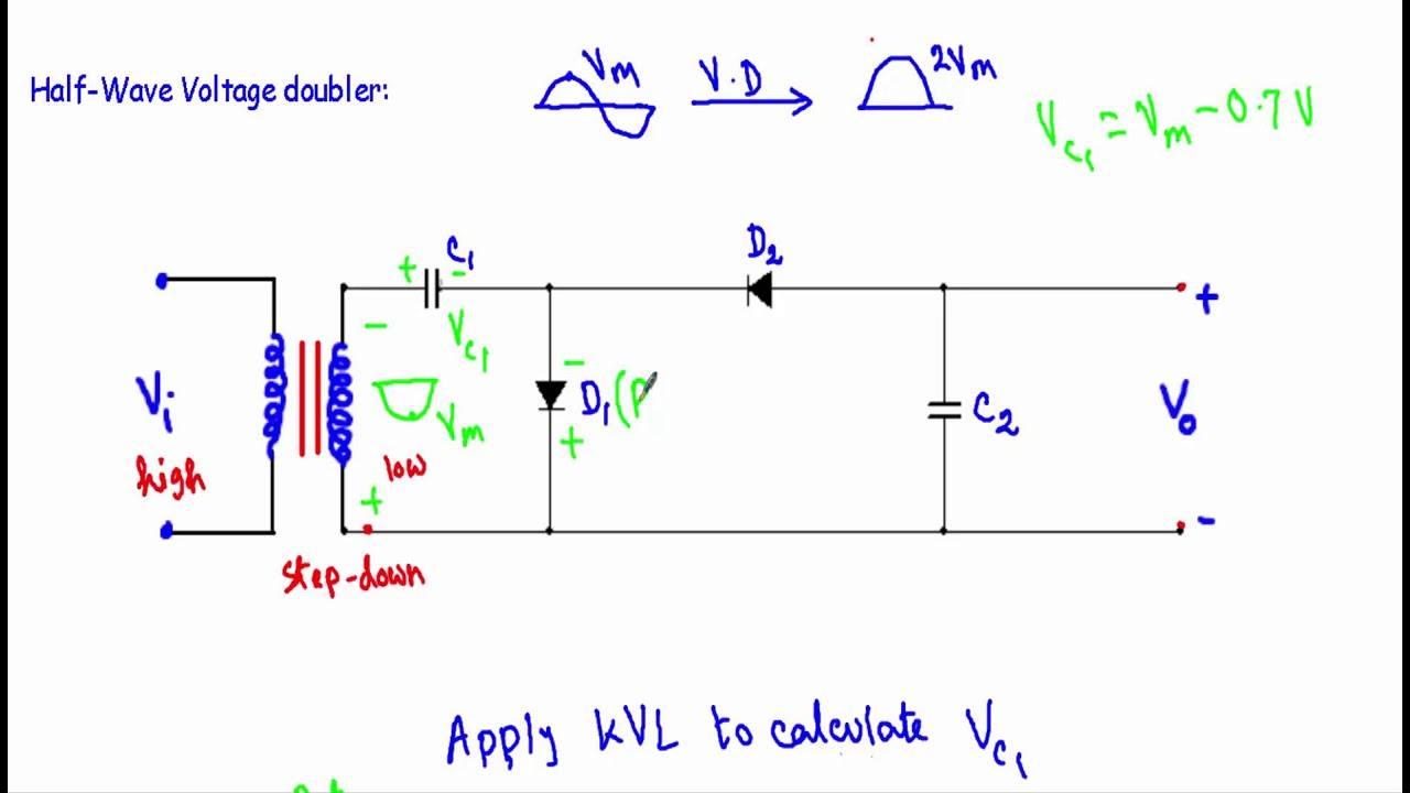 Voltage Doubler Circuit Half Full Wave YouTube