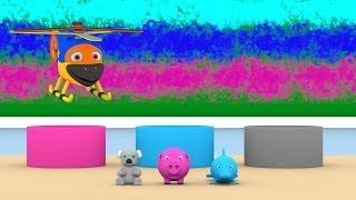Уроки з Винтиком 3D - Кольори - Сірий, Рожевий, Синій, . – Розвиваючі мультфільми