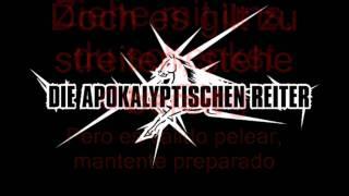 Die Apokalyptischen Reiter - Friede sei mit dir (Letras Alemán - Español)