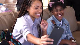 Logan Browning visits Los Angeles Mission | DoSomething.org
