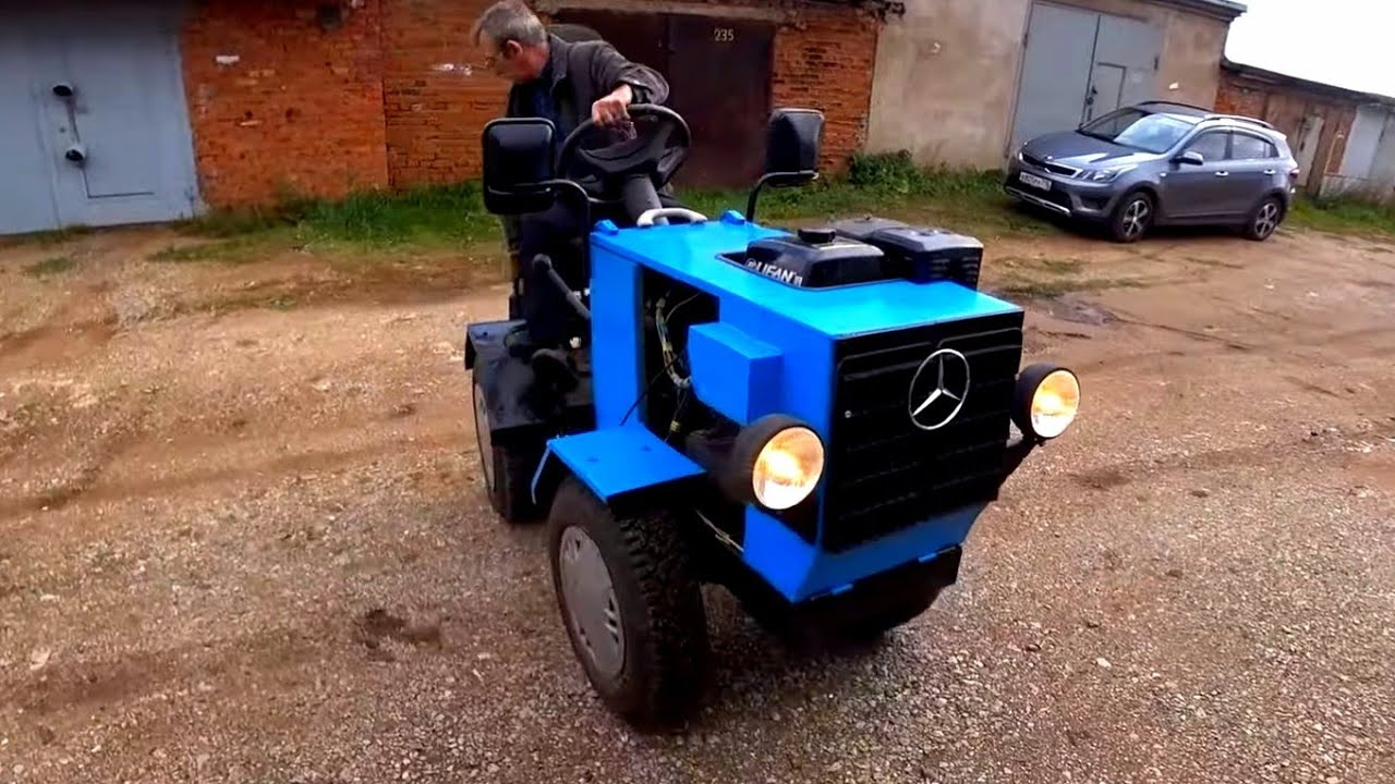 Мужик в гараже собрал себе трактор /самодельный трактор переломка 4+4 своими руками