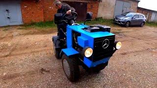 Мужик в гараже собрал себе трактор / самодельный трактор переломка 4+4 своими руками