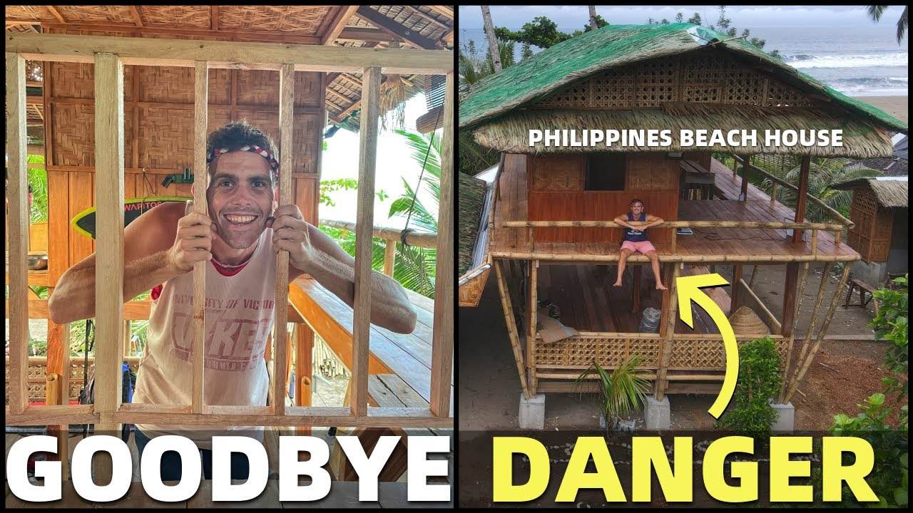 DANGEROUS BEACH HOUSE? Bamboo Construction In The Philippines... Goodbye Railings!