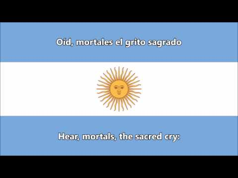 Argentine National Anthem (ES/EN lyrics) - Himno Nacional Argentino (letra)