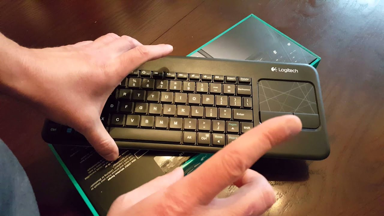 Logitech Illuminated Living Room Keyboard K830 Unboxing