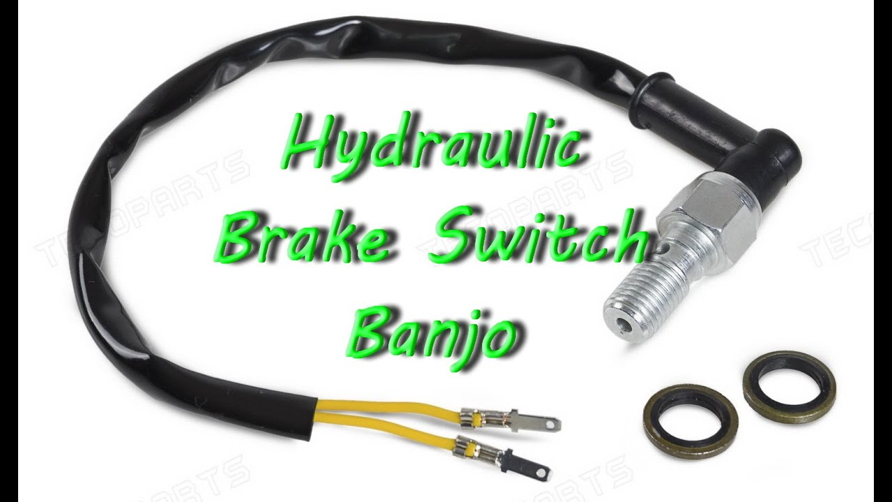 universal motorcycle hydraulic brake light switch banjo bolt rh youtube com wiring motorcycle brake light wiring motorcycle brake light