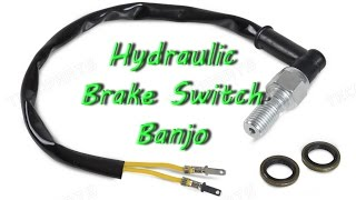 Universal Motorcycle Hydraulic Brake Light Switch Banjo Bolt installation
